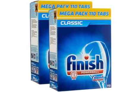 Groupon Goods Global GmbH - 110 or 220 Finish Powerball Classic Dishwasher Detergent Tablets - Save 63%