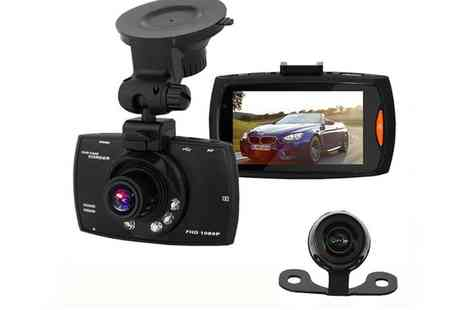 Groupon Goods Global GmbH - Apachie G30 Full Hd Dual Front and Rear Dash Cam with Optional 16Gb Memory Card - Save 58%