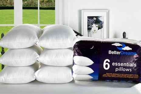 Groupon Goods Global GmbH - Six Better Dreams Non Allergenic Fibre Filled Pillows - Save 70%