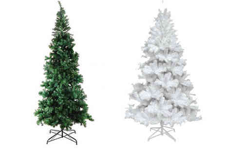 Direct 2 public - 6ft Artificial Luxury Christmas Tree Available in Two Colours - Save 70%