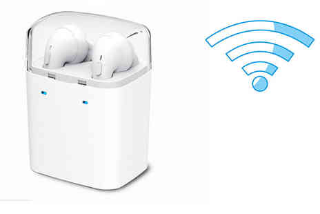 Nex Buy - Pair of Apple compatible wireless earbuds - Save 75%