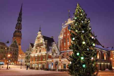 Crystal Travel - Two or three night 4 Star Riga city break with breakfast, flights and Christmas market dates available - Save 38%