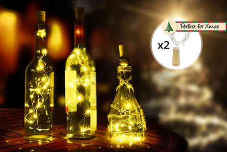 London Exchain Store - Two Christmas LED bottle decorative lights - Save 87%