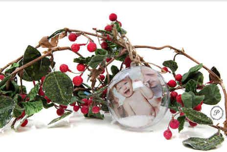 Pearl & Plum Photography - One hour family photoshoot with a Christmas bauble - Save 95%