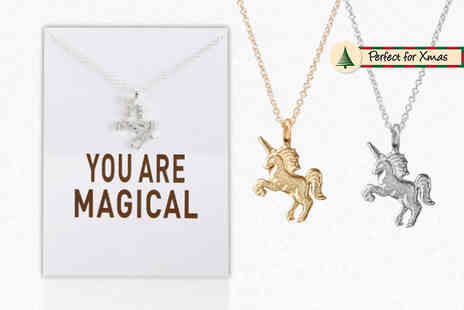 Solo Act - You Are Magical unicorn necklace - Save 80%