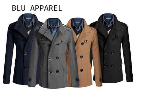 Bluebell Retail - Mens slim fit military coat select from four colours and seven sizes - Save 67%