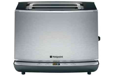 Groupon Goods Global GmbH - Hotpoint Two Slice Stainless Steel Toaster - Save 52%