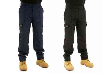 Groupon Goods Global GmbH - Site King Mens Cargo Work Trousers with Knee Pad Pockets - Save 0%