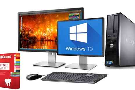 Computer Remarketing Services - Refurbished Dell OptiPlex 745 or 755 Desktop PC with Option for 19 inch or 22 inch Monitor and Antivirus With Free Delivery - Save 0%