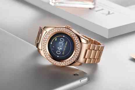 Deal of Fame - Timothy Stone Smart Watch with 90 Crystals from Swarovski With Free Delivery - Save 77%
