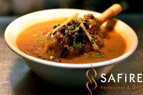 Safire Restaurant & Grill - Two Course Meal for Two or Four - Save 36%