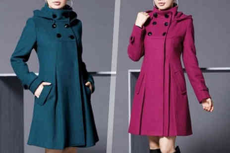 Blu Apparel - Wool Blend Smart Coat Choose from Four Colours - Save 71%