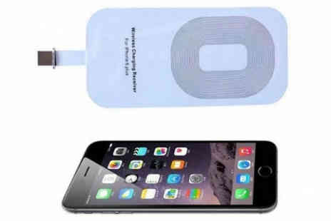 H&C Electronics - Wireless Charger Pad with iPhone Receiver Available in Four Colours - Save 81%