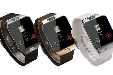 Gifts Emporium - Bluetooth Smart Watch with SIM Card Slot Choose Three Colours - Save 81%
