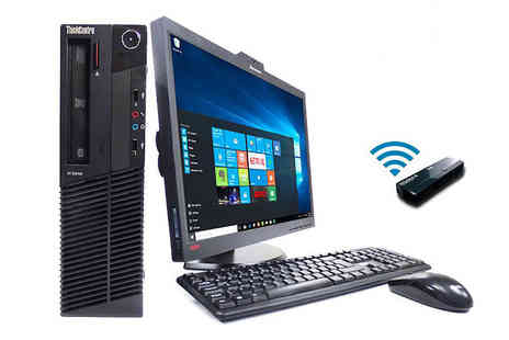 PCs and Parts - 500GB HDD 8GB RAM Lenovo M92 desktop computer with 22 inch monitor, keyboard, mouse and wireless dongle - Save 53%