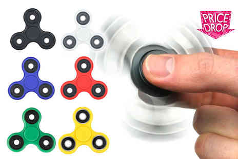 London Exchain Store - Stress relieving fidget spinner choose from four colours - Save 85%