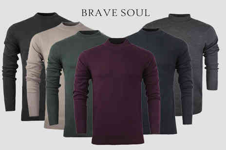 Azure Clothing - Mens cotton turtle neck jumper - Save 68%
