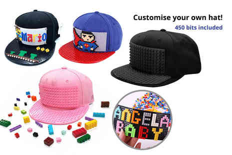 Charles Oscar - Build A Brick customisable cap and 450 colourful pieces - Save 72%