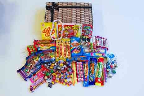 The Little Sweet Shop - Treasure Box sweet hamper or Mighty Treasure Box or Wicker Effect Mighty Treasure Box or Wicker Mighty Treasure Box - Save 76%