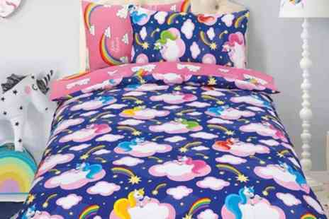 Groupon Goods Global GmbH - Unicorn or Princess Duvet Set in Choice of Colour and Size - Save 69%