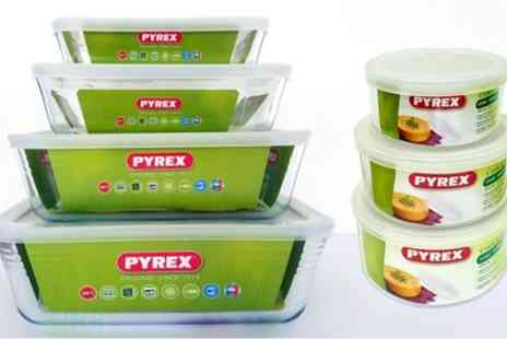 Groupon Goods Global GmbH - Six, Eight or 14 Piece Pyrex Glass Container Set - Save 54%