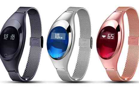 Groupon Goods Global GmbH - Aquarius AQ135 Oval Fitness Tracker with Heart Rate Monitor - Save 60%