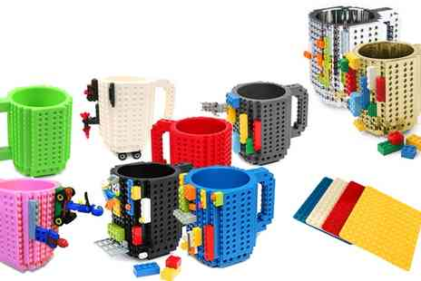 Groupon Goods Global GmbH - One, Two or Three Build On Brick Mugs or Coasters - Save 65%
