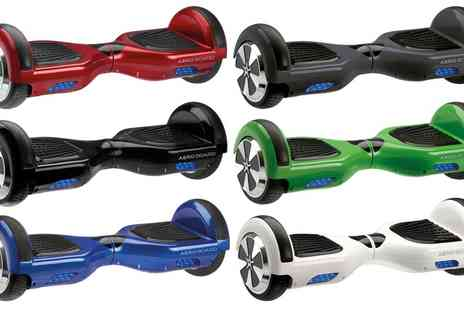 Groupon Goods Global GmbH - AeroBoard Uk Certified Hoverboard with Lg Battery and Carry Bag With Free Delivery - Save 50%