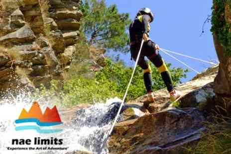 Nae Limits - Half Day Canyoning, Adventure Tubing Or White Water Rafting - Save 60%