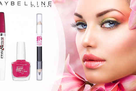 beautynstyle - Maybelline SuperStay 24HR Lip Colour plus 7 Day Nail Polish plus Big Eyes Eyeliner - Save 74%