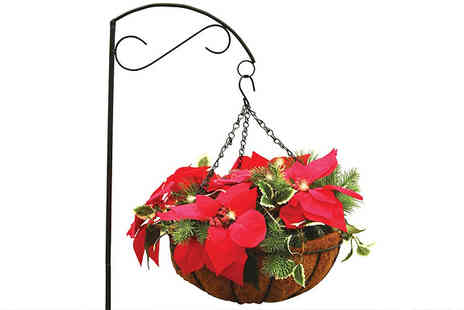 Jersey Plants Direct - Large Stand Mounted Led Christmas Hanging Basket With Free Delivery - Save 29%