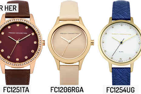 Brand Logic Europe - French Connection Watches For Him & For Her Choose from 31 Designs - Save 78%