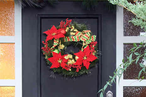Jersey Plants Direct - Led Red and Green Christmas Wreath With Free Delivery - Save 28%