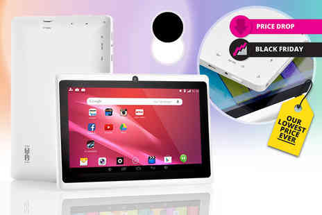 Graboom - 7 inch Android quad core tablet choose from two colours - Save 83%