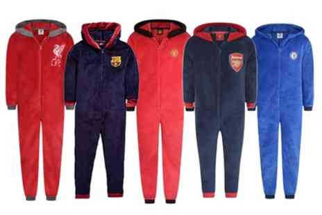 Groupon Goods Global GmbH - Mens Officially Licensed Football Fleece Onesie - Save 0%