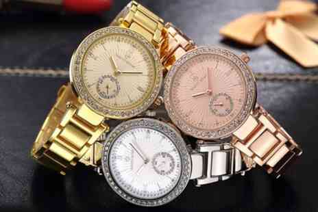 DEALOFFAME - One or Two Timothy Stone Elle Womens Watches with Crystals from Swarovski With Free Delivery - Save 87%