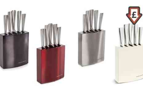 Groupon Goods Global GmbH - Morphy Richards Five Piece Knife Block in Choice of Colour - Save 66%