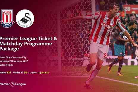 Stoke City Football Club - One ticket to Stoke v Swansea on 2 December - Save 0%