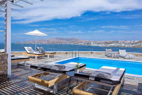 Mykonos No5 - Boutique Getaway with Aegean Views For Two - Save 50%