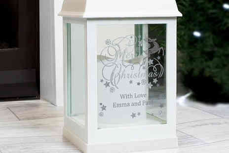 Ideal4Gifts - Personalised Christmas LED Lantern - Save 32%