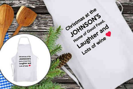 Deco Matters - Personalised Christmas Aprons in 4 Designs - Save 60%