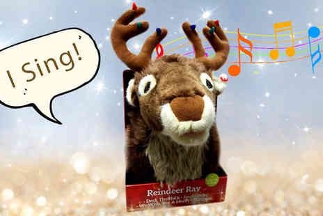 Craze UK - Interactive LED Singing Reindeer Ray - Save 45%