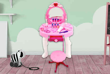 Who Needs Shops - A pink dressing table and glamour mirror play set - Save 71%