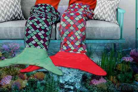 Craze UK - Kids mermaid tail blanket - Save 76%