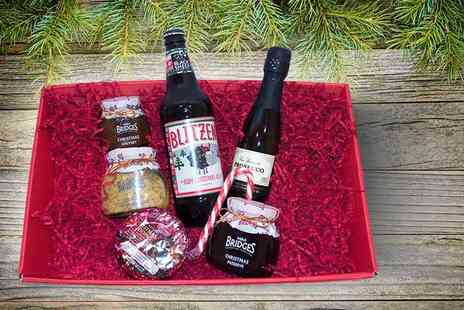 Nostalgic Campers - Luxury festive Christmas hamper containing Prosecco, whisky, ale, Christmas pudding and much more - Save 0%