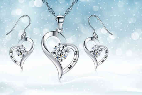 Your Ideal Gift - Mum jewellery set made with Crystals from Swarovski - Save 89%