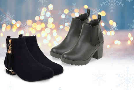 City Shoes Retail - Pair of Chelsea ankle boots or pair of gold detail boots - Save 58%