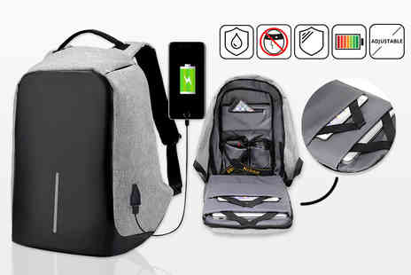 Charles Oscar - Anti theft backpack with USB charging port - Save 88%
