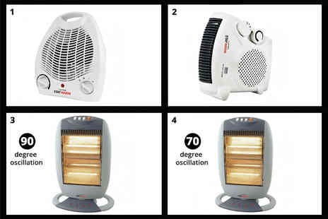 Leisure Fayre - Upright fan heater or upright or flatbed fan heater or compact halogen heater or halogen heater - Save 68%