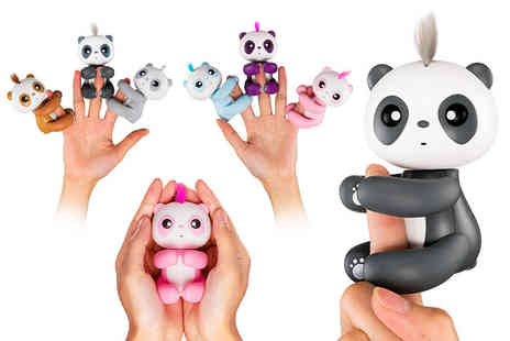 Charles Oscar - Interactive finger pet panda select from six colours - Save 69%